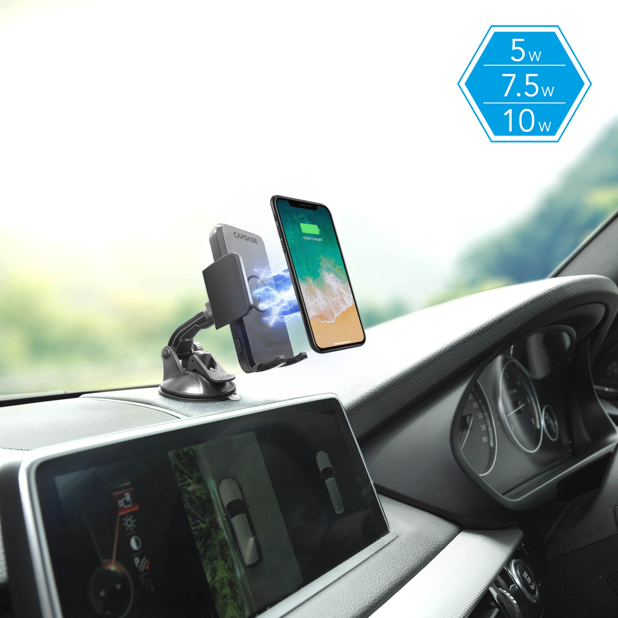 ROADER Fast Wireless Car Charging Mount Flip Arm