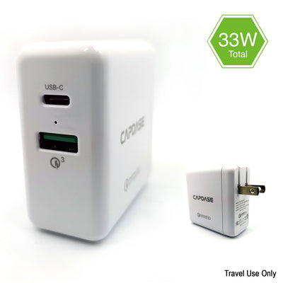 RANGER 2P33B QC3.0 and USB-C Wall Charger with Cable Kit (US Plug)