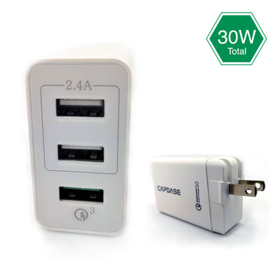 RANGER 3P30B QC3.0 Wall Charger with Cable Kit (US Plug)