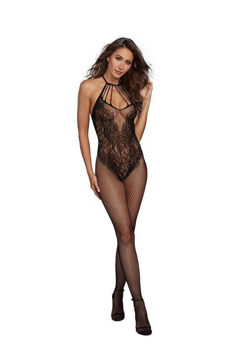 AIS Dreamgirl One Size Black Fishnet Bodystocking 0326 Not Available For Local Delivery