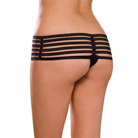 Elastic Strapped Open Crotch thong 6-8 14-16