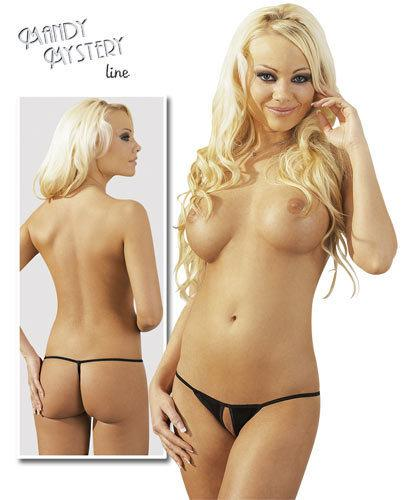 Black Crotchless G-String