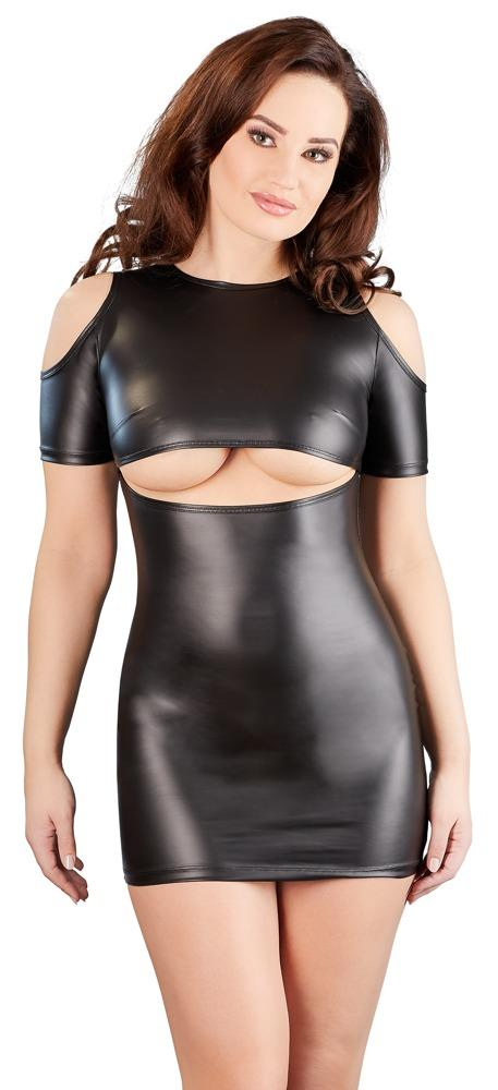 Wetlook Mini Dress With Cut-outs