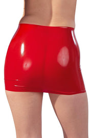 Latex Mini Skirt