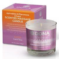 DONA by JO Aphrodisic and Pheromone Infused Scented Massage Candle-Tropical Tease
