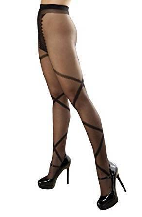 Woven Criss Cross Tights