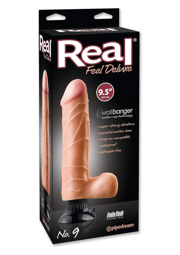 "Real Feel Deluxe 9.5"" Suction Vibrator"