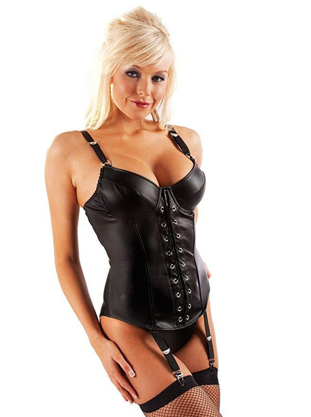 Leatherette Beauty Basque - Queen
