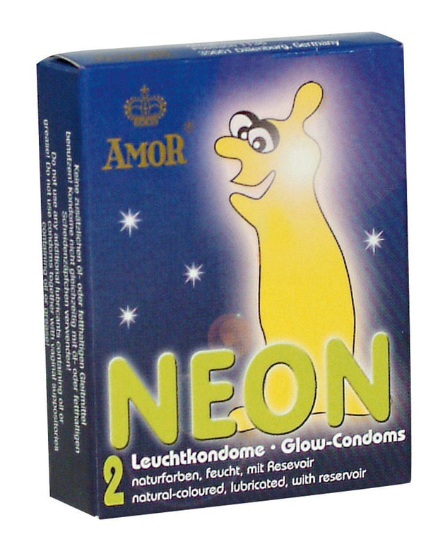 Amor Neon Condoms - 2 Pack