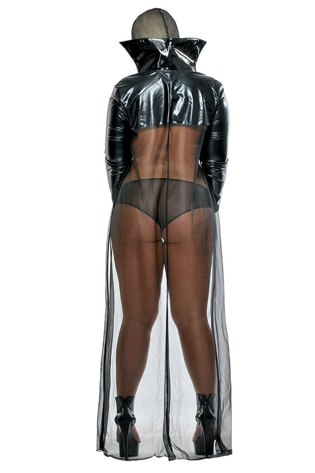 Twilight Night Set Including Hood, Vinyl Chain Pasties, Cape, Fangs & Boyshort O/S & Q/S