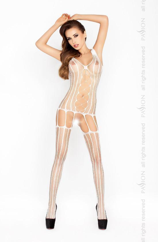 Stripe Fishnet Suspender Bodystocking