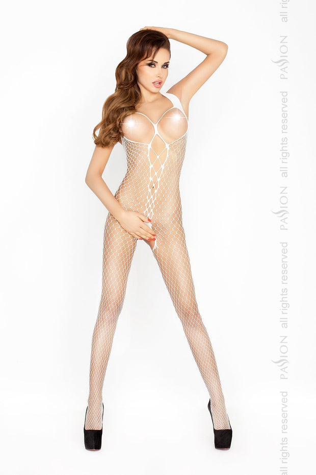 Open Cup Plunge Fishnet Bodystocking