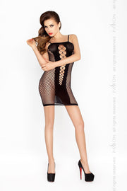 Fishnet Plunge Mini Dress Bodystocking