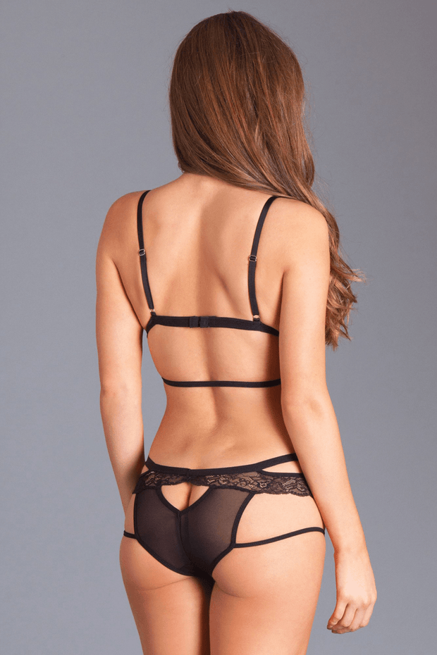 Be Wicked Strappy Crotchless Set