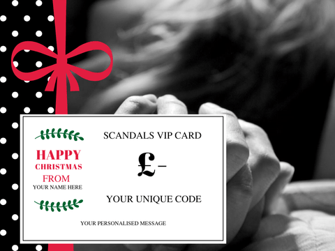 Scandals Christmas VIP Gift Card- Personalised