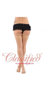 Classified Fully Fashioned Cuban Heel Stockings (Black or Natural Seam)