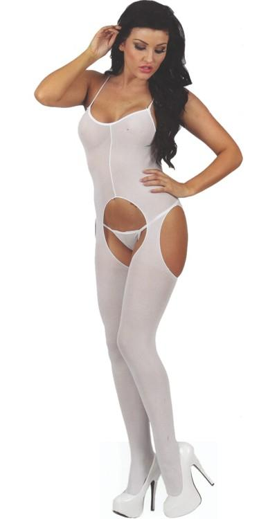 Classified Bodystocking White Suspender
