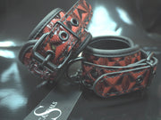 The Scandals Red Luxe Wrist Cuffs
