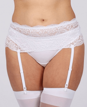 Deep Lace Suspender Belt by Classified