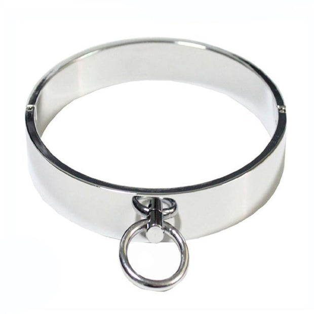 Stainless Steel Collar with Ring