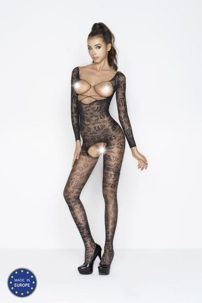 Off-the-shoulder Rose Lace Bodystocking