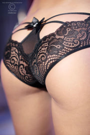 Cage and Bow Lace Knickers