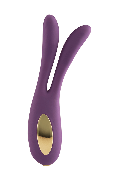 Luz by ToyJoy Flare Rabbit LED Colour Rechargeable Vibrator (Purple & Black)
