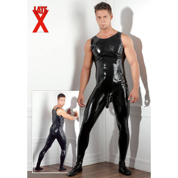 Latex Men's Jumpsuit with Penis Sleeve