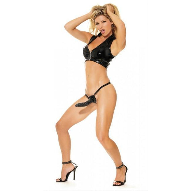 Posable Partner Strap-On Black 7""