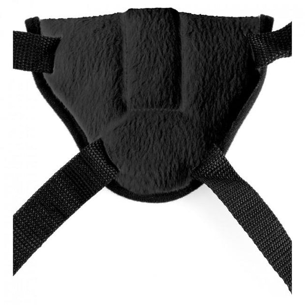 Vibrating Plush Harness Black (OS)