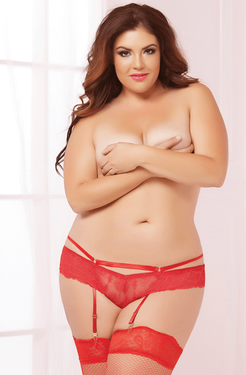 Galloon Lace Panty Red