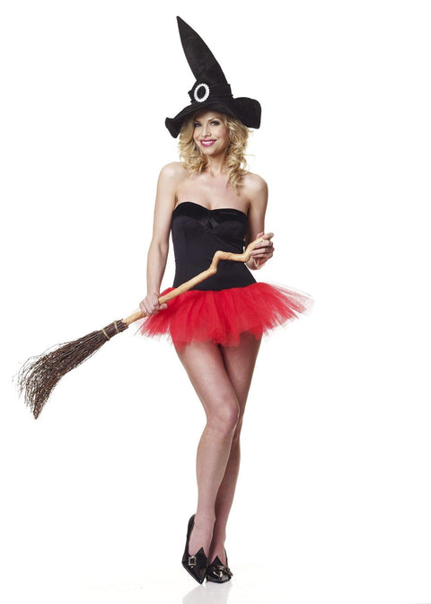 Sexy Witch Costume 2PCS Strapless Dress & Witches Hat
