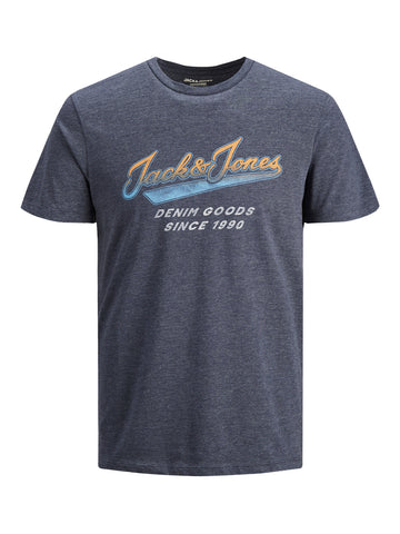 Jack and Jones Herren T-Shirt Blue Slim Fit