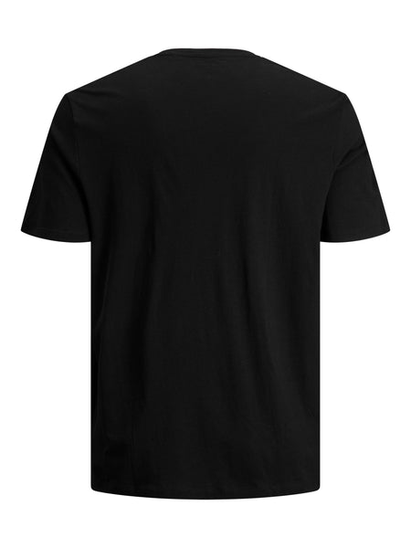 Jack and Jones Starke Kerle Herren T-Shirt Regular Fit Booster Black