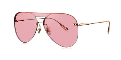 Translucent pink reflective mirror lenses
