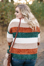 Load image into Gallery viewer, Fall With Us Striped Chenille Sweater