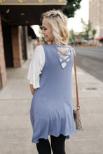 Load image into Gallery viewer, Life Of The Party Sleeveless Cardigan In Periwinkle