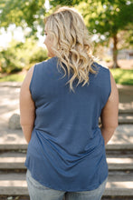 Load image into Gallery viewer, Essential Tank Top In Coal Blue