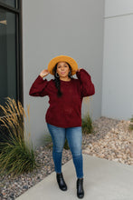 Load image into Gallery viewer, Just A Peek Burgundy Sweater