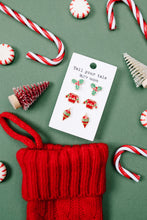 Load image into Gallery viewer, Holly Jolly Christmas Earring Set