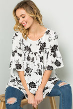 Load image into Gallery viewer, Bella Floral Babydoll Tunic