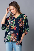 Load image into Gallery viewer, Lorelei Floral V-neck Dolman Top