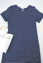Load image into Gallery viewer, Buttoned To A T-Shirt Dress In Navy