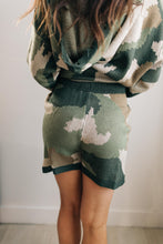Load image into Gallery viewer, Chasing Sleep Lounge Set Shorts in Camo