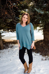 Play Me A Little Tunic  Top In Teal