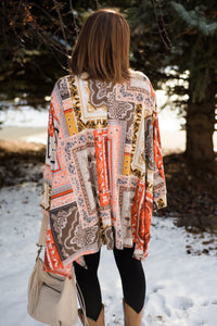 The Final Touch Kimono In Sunset