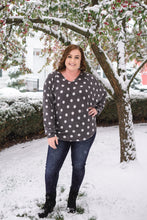 Load image into Gallery viewer, Positively Glacial Polka Dot Fleece Top