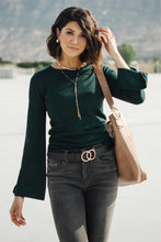 Load image into Gallery viewer, Elvira Hole In One Hunter Green Sweater