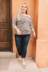 Grin & Bare It Animal Print Top