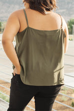 Load image into Gallery viewer, Lace Applique Camisole In Olive